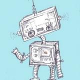 Hello Little Robot: Custom Colour Background