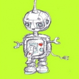 Little Robot's Love Note: Custom Colour Background