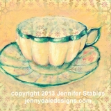 Butter Cream Tea Cup