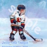 Boy Playing Hockey- Calgary Flames