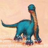 Brachiosaurus on Rollerskates