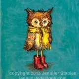 Owl's Big Red Boots
