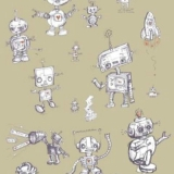 Robots on the Loose: Custom Colour Background