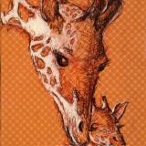 Cuddles from Mom: Giraffe Mom and Calf