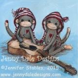 Sock Monkey Twins- Guitar
