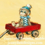 Adventure in a Red Wagon