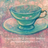 Turquois Tea Cup