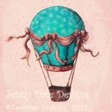 Vintage Hot Air Balloon- Fancy